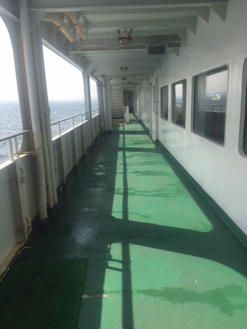 伊勢湾フェリーの船外