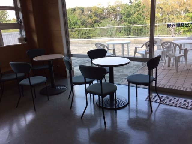 竜洋昆虫自然観察公園の2階の休憩コーナー