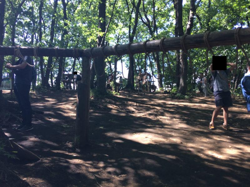 フィールドアスレチック 横浜つくし野コース のロープアスレチック