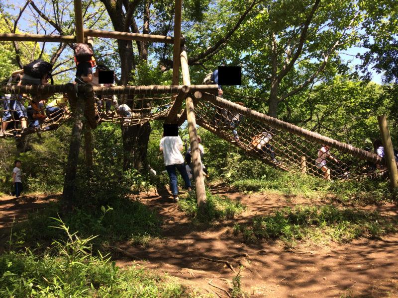 フィールドアスレチック 横浜つくし野コース の小学生向けアスレチック