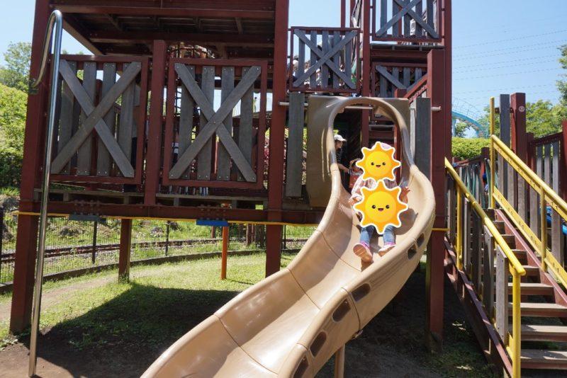 小田原こどもの森公園わんぱくらんどの滑り台の写真