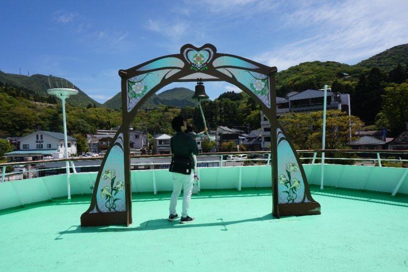 箱根遊覧船のデッキ
