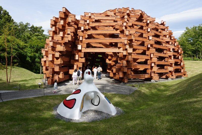 箱根彫刻の森美術館のネットの森(外観)
