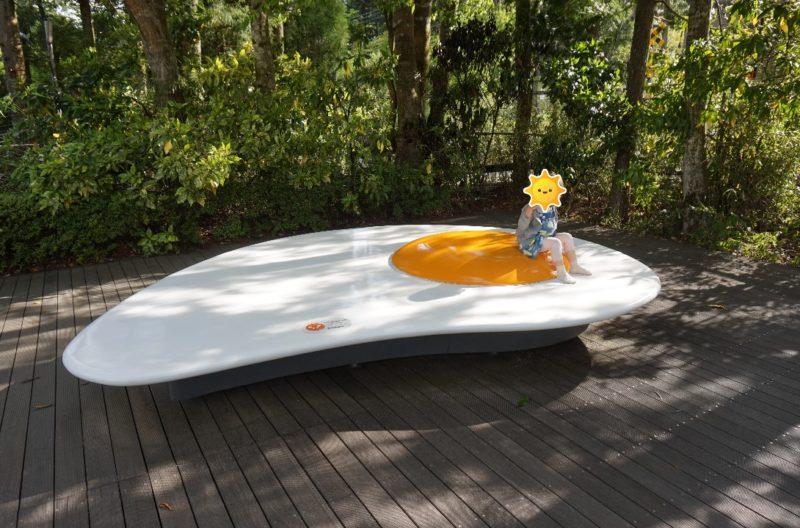 箱根彫刻の森美術館の目玉焼きのオブジェ
