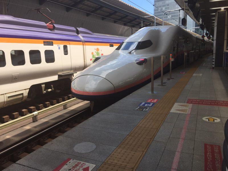 東京駅のホームに停まっているE2系
