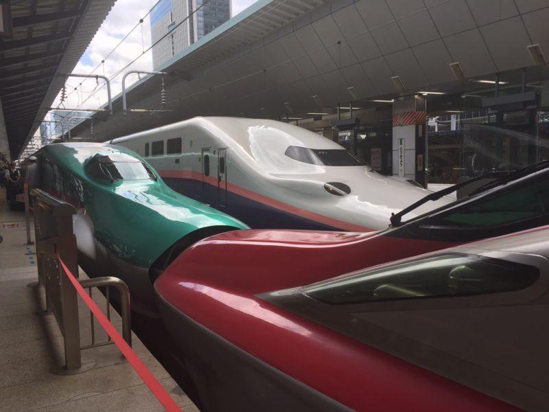 はやぶさ・こまちの連結箇所(東京駅)