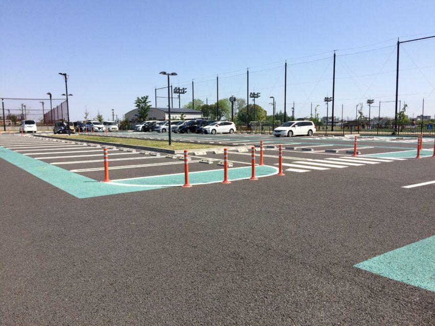 大和ゆとりの森の駐車場