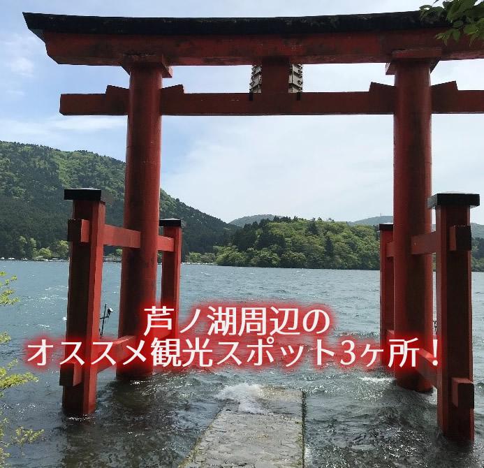 芦ノ湖の箱根神社の水上鳥居