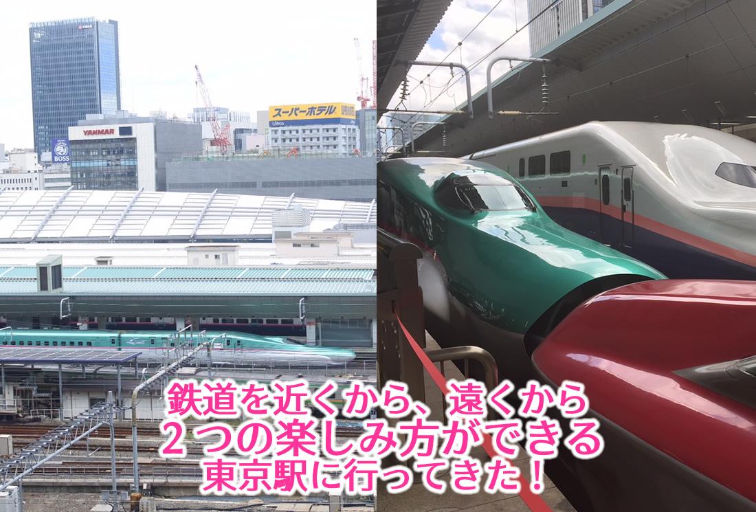 鉄道を近くから、遠くから 2つの楽しみ方ができる 東京駅に行ってきた!