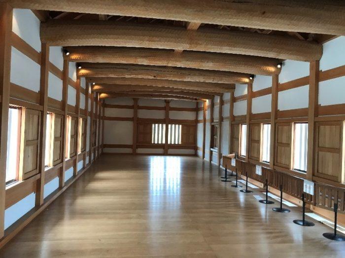 小田原城のあかがねもん内部