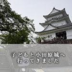 子どもと小田原城へ行ってきた