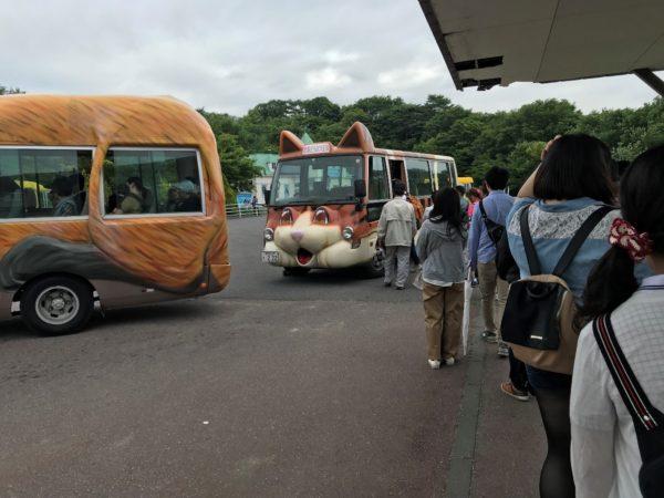 那須どうぶつ王国のバス