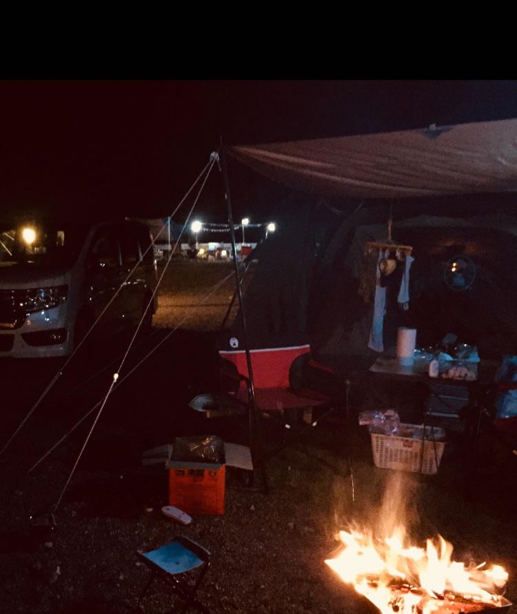 白川渡オートキャンプ場でプチキャンプファイヤーをしました