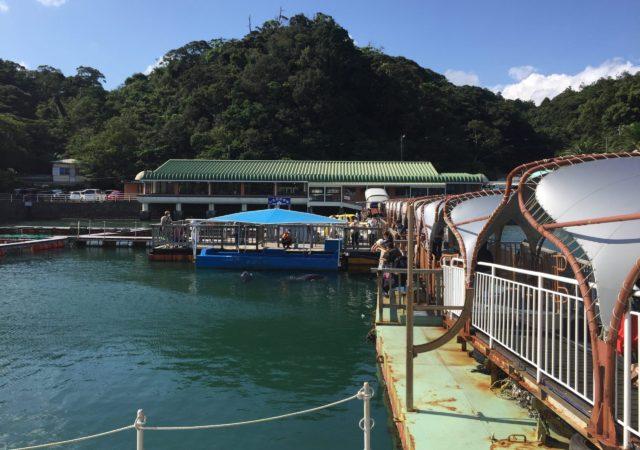 下田海中水族館の浮き桟橋