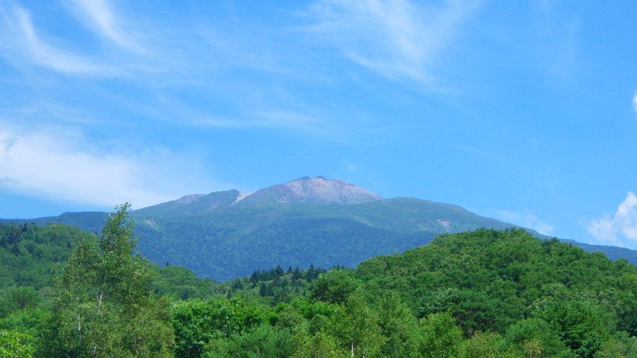 南乗鞍キャンプ場から見える乗鞍岳