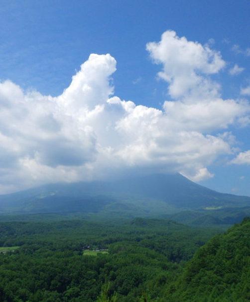 九蔵峠展望台からの眺め