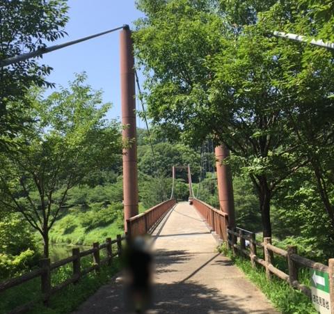 都田公園にある吊り橋