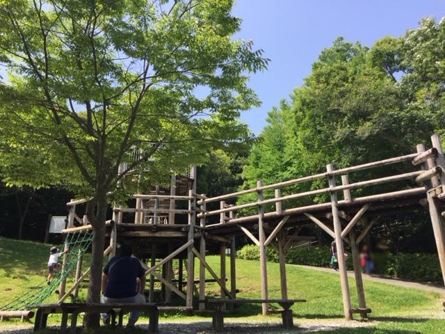 都田公園のアスレチック遊具