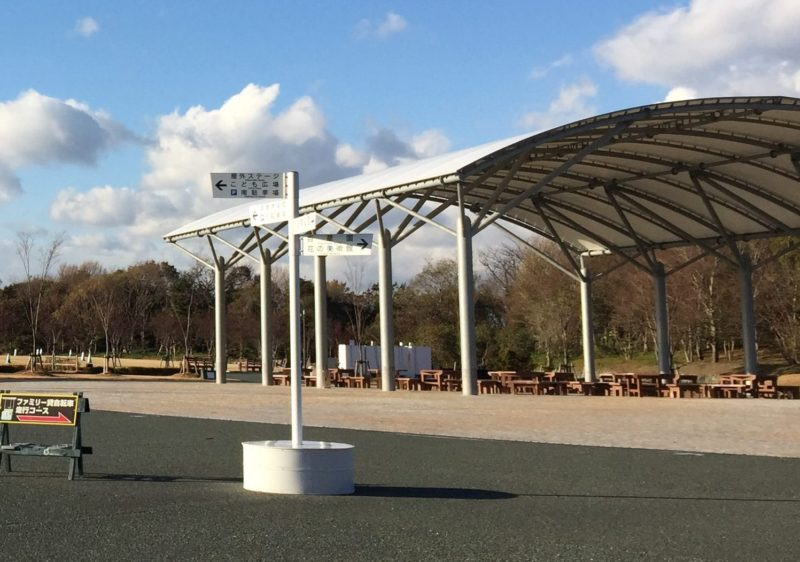 浜名湖ガーデンパークのイベント広場