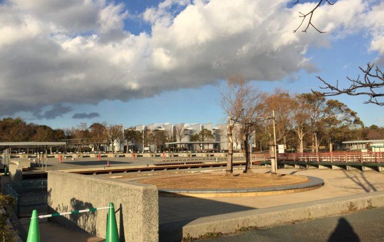ガーデンパークの水広場(冬の様子)