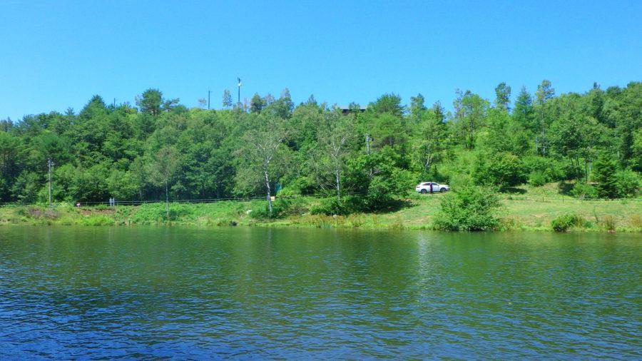 南乗鞍キャンプ場の池
