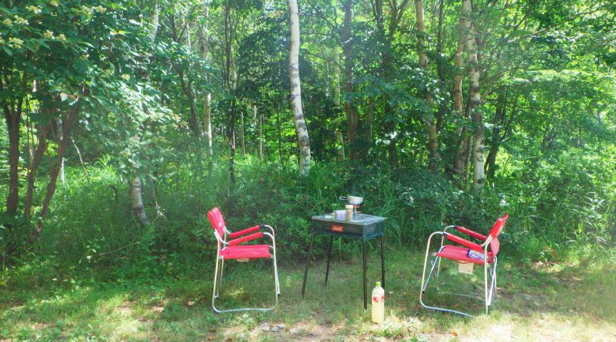 南乗鞍キャンプ場で朝を迎える