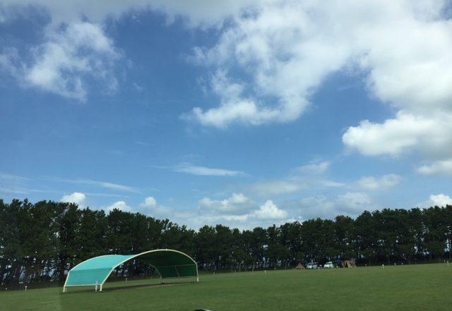 渚園の大きなテント