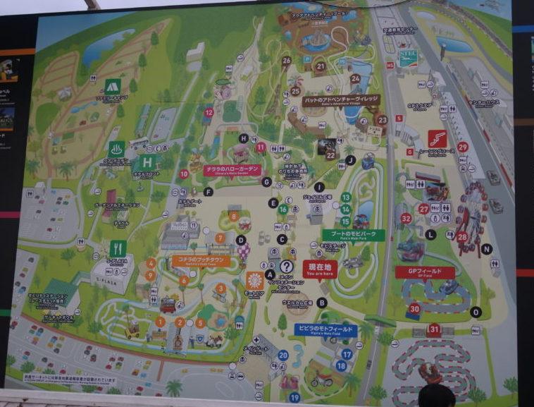 モートピアの園内マップ