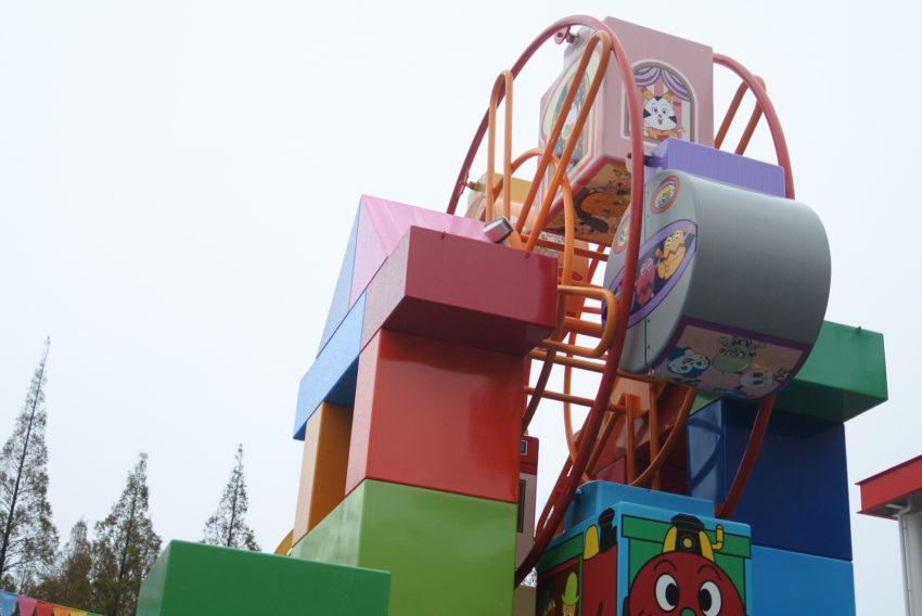 雨の日のアンパンマンミュージアムの観覧車