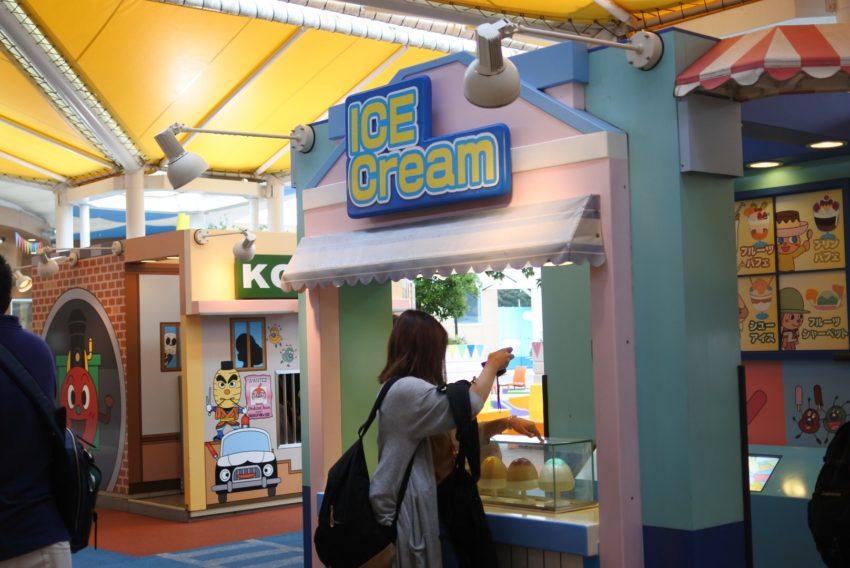 名古屋アンパンマンミュージアムのアイスクリーム屋さん