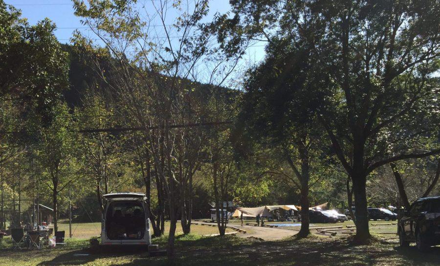 ならここの里キャンプ場の林間広場