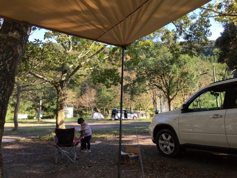 ならここの里キャンプ場で秋キャンプ