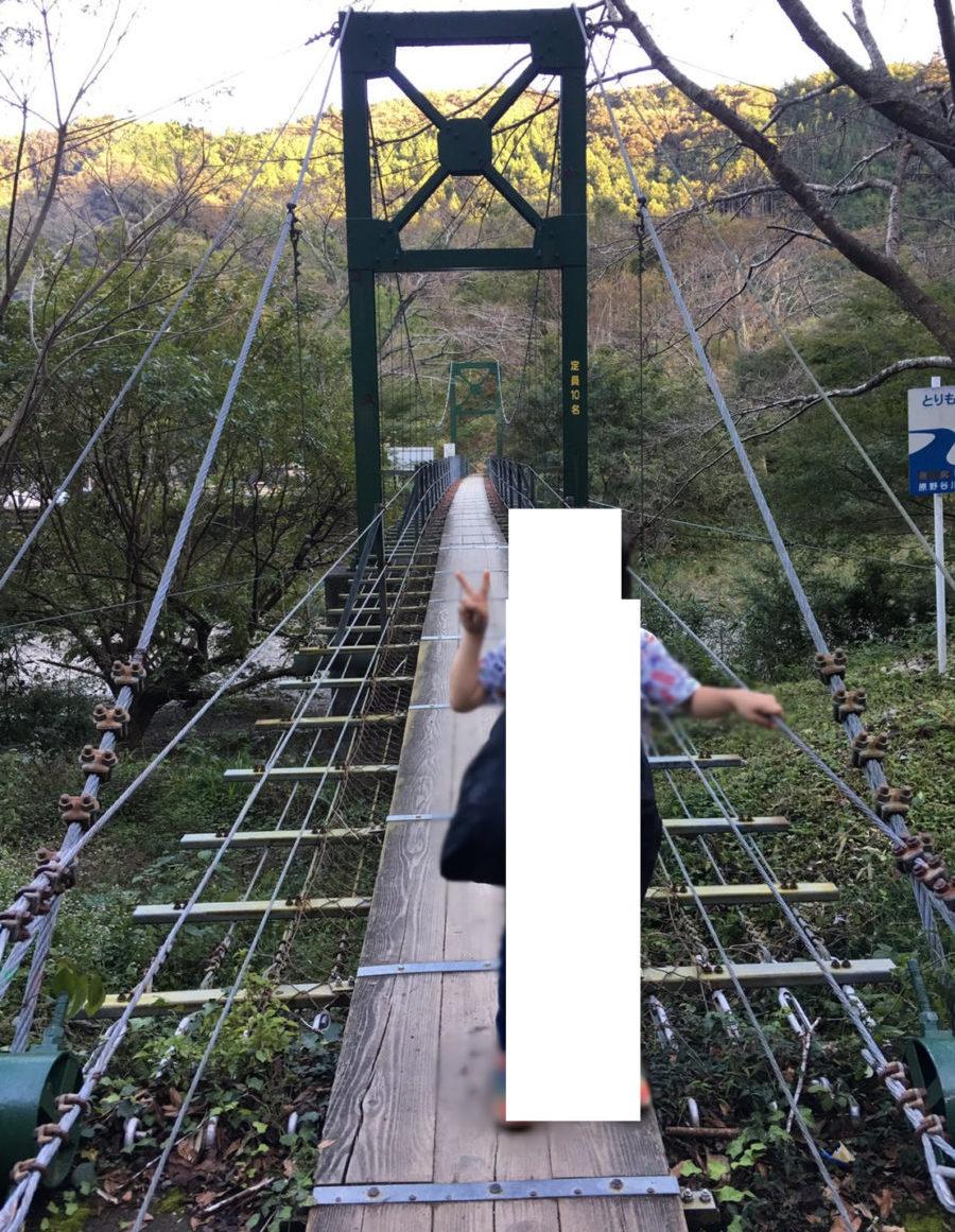 ならここの里キャンプの吊り橋