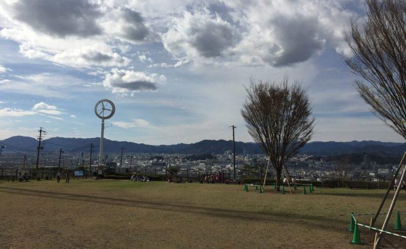 日本平動物園の展望広場から見た景色