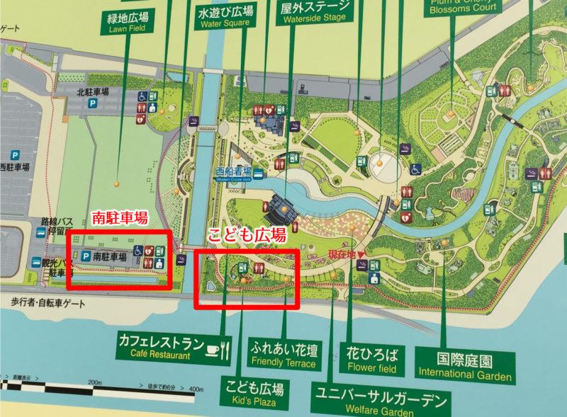 ガーデンパークの地図