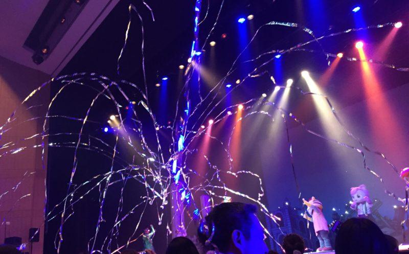 しまじろうコンサートで飛んだ銀テープ