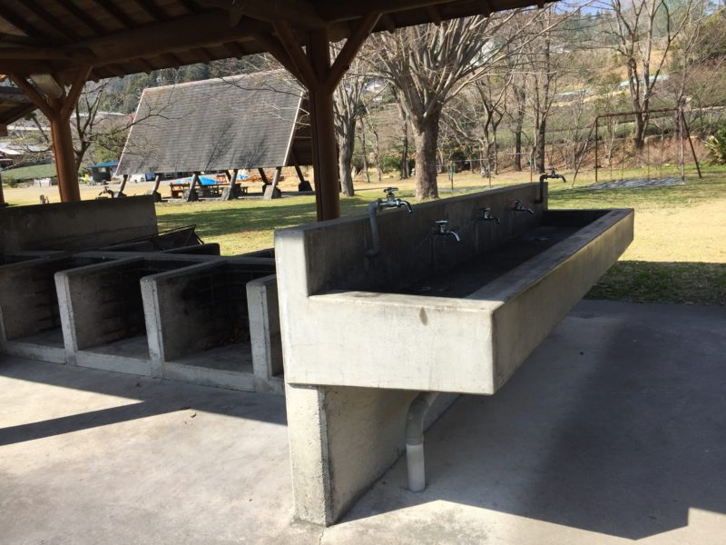 くのわき親水公園キャンプ場の炊事場
