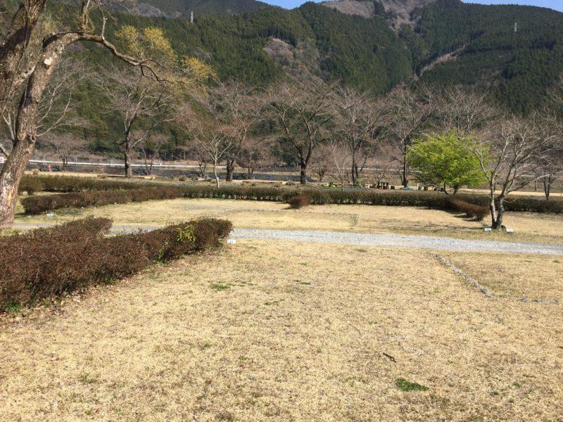 くのわき親水公園キャンプ場の区画サイト