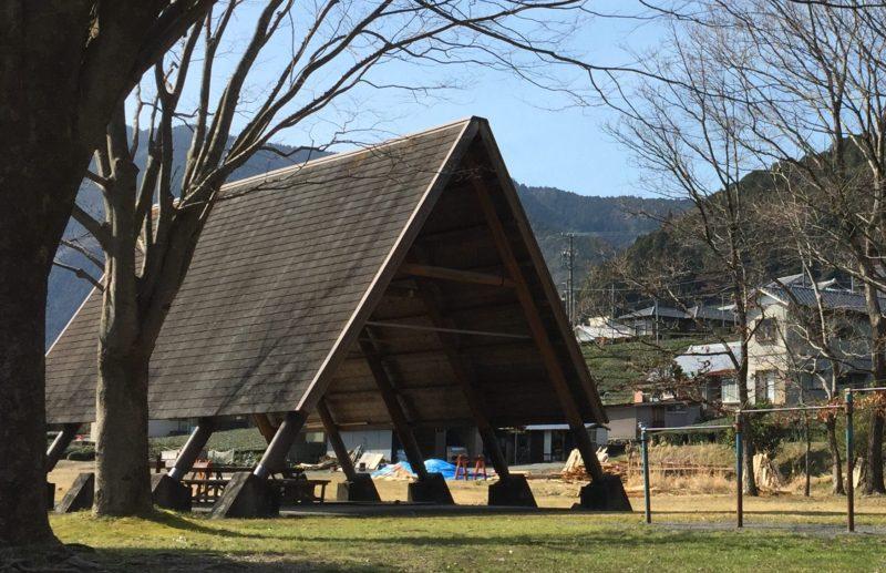 くのわき親水公園キャンプ場の待避所