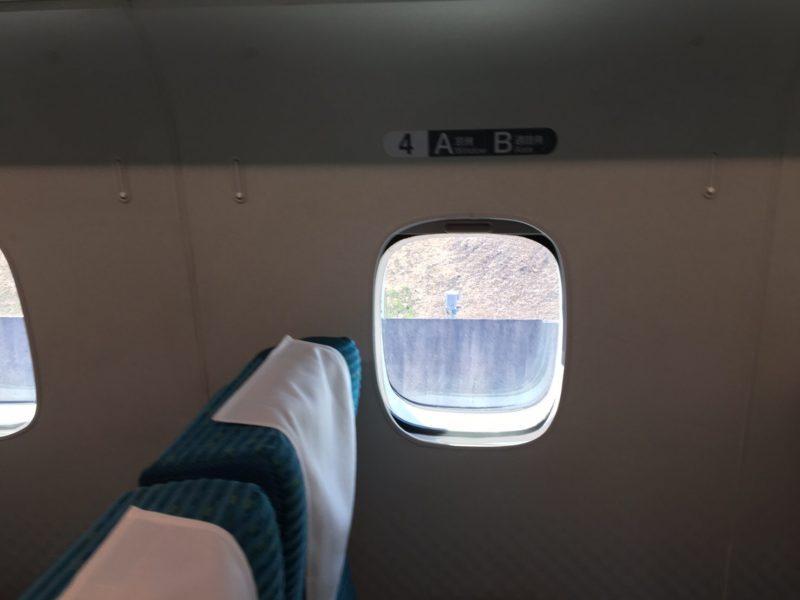 リニアの窓の大きさ