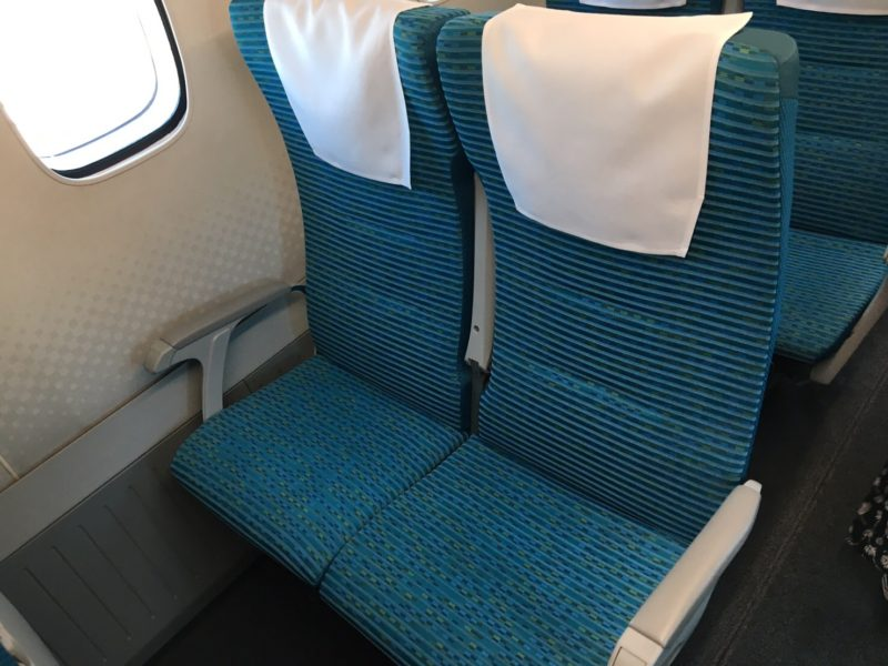 リニアの座席シート