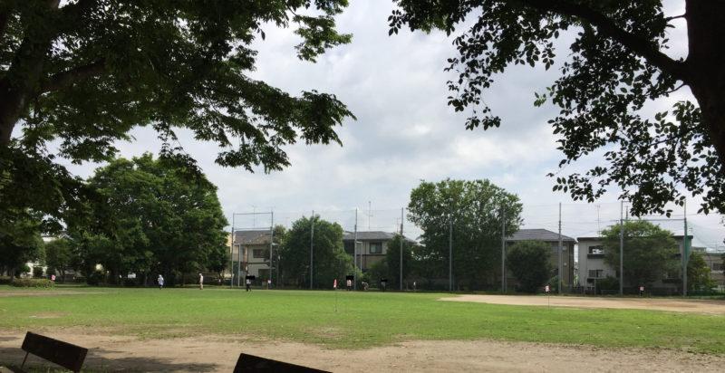 大蒲公園の広場