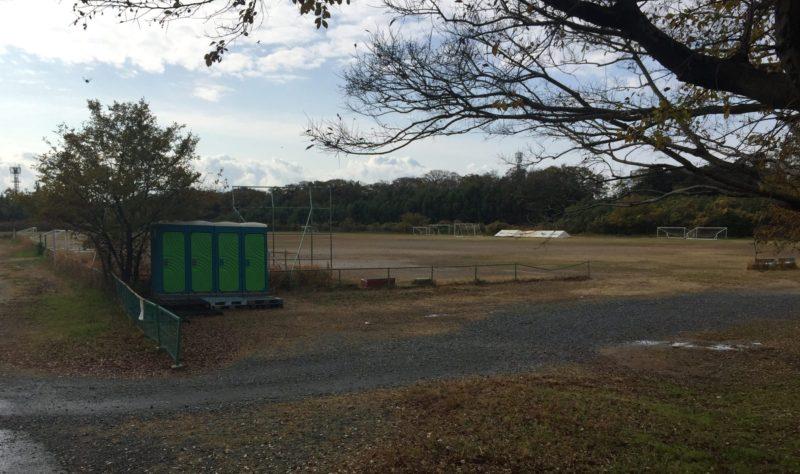 飯田公園のサッカーグラウンド