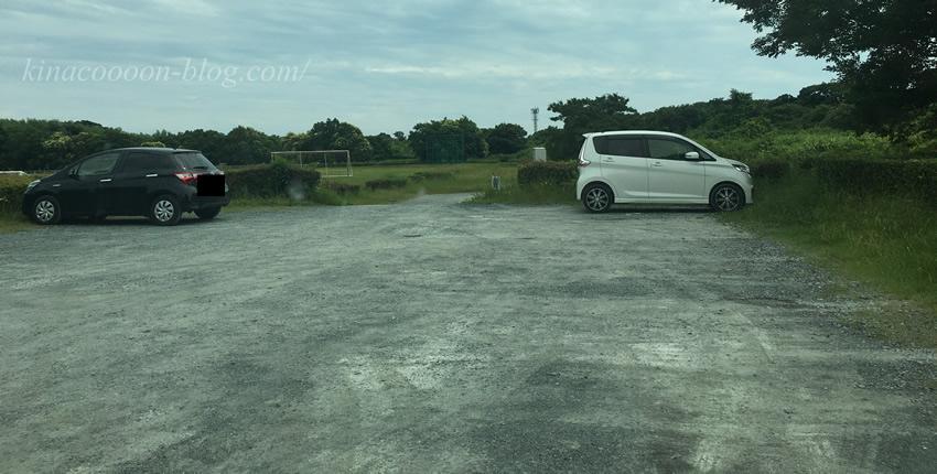 飯田公園のグラウンド駐車場