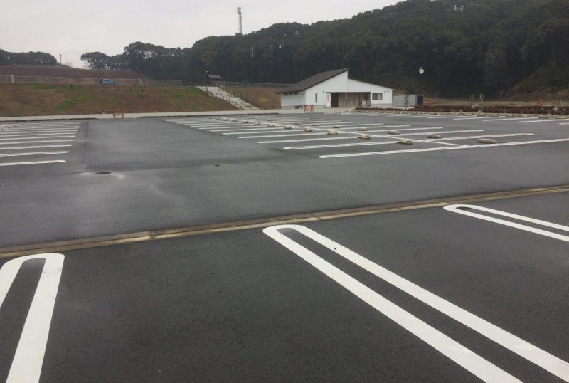 みつかわ夢の丘公園の駐車場