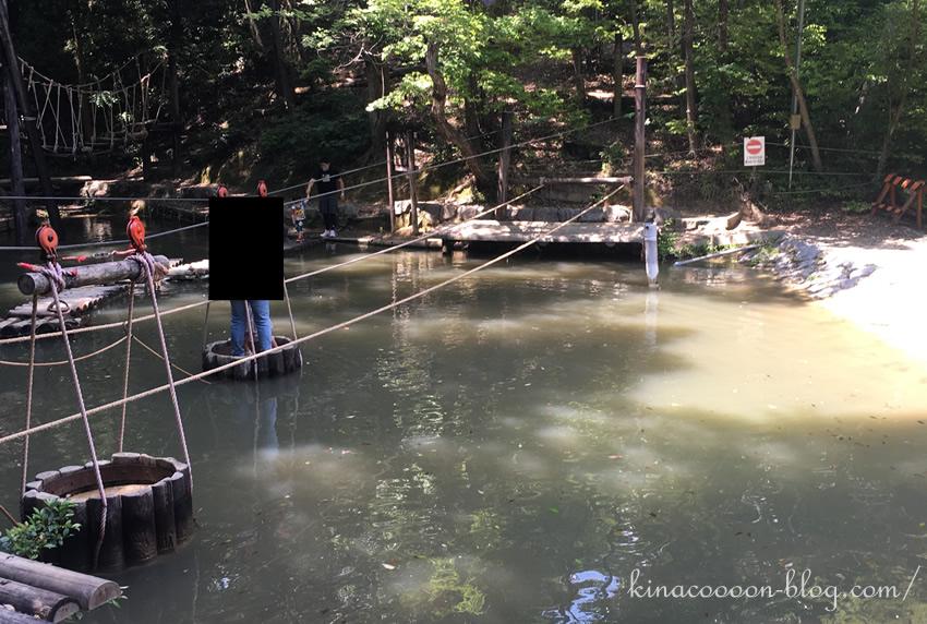 浜北森林アスレチックの水渡