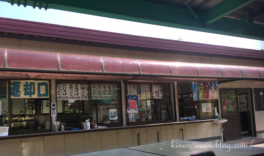 浜北森林アスレチックの軽食コーナー(メニュー一覧)