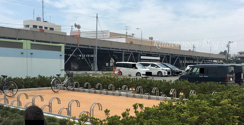 今之浦公園の南側駐車場・駐輪場