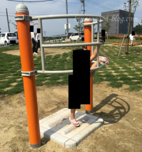 今之浦公園の健康遊具広場の器具